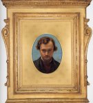 William Holman Hunt (1827-1910)  Dante Gabriel Rossetti, 1882-1883  Oil on wood  22.9 x 30.2 cm (9.02